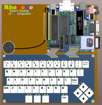 Designing the RhoCoCo Retro Home COlor COmputer hardware - RevSpace